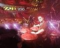Loris Lombardo with handpands on the Festival di Sanremo.jpg