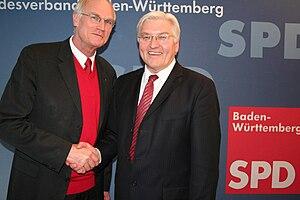 Lothar Binding - Lothar Binding and Frank-Walter Steinmeier