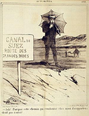 Le Charivari - Image: Louis Pierre Gabriel Bernard Morel Retz Canal de Suez route des Grandes Indes