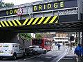 Low bridge trouble, Olympic services, London E9 (7584900856).jpg