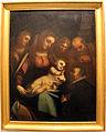 Luca cambiaso, sacra famiglia con angeli e un donatore.JPG