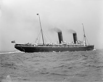 RMS Lucania - Lucania at sea