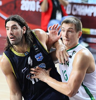 Luis Scola - Luis Scola with the Argentine national team