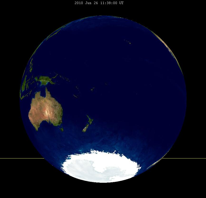 Lunar eclipse from moon-2010Jun26