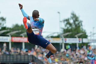 Luvo Manyonga South African male long jumper