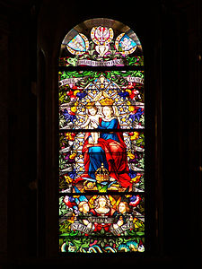 Lviv - Roman-Catholic Catedral of St. Mary - Stained glass.jpg