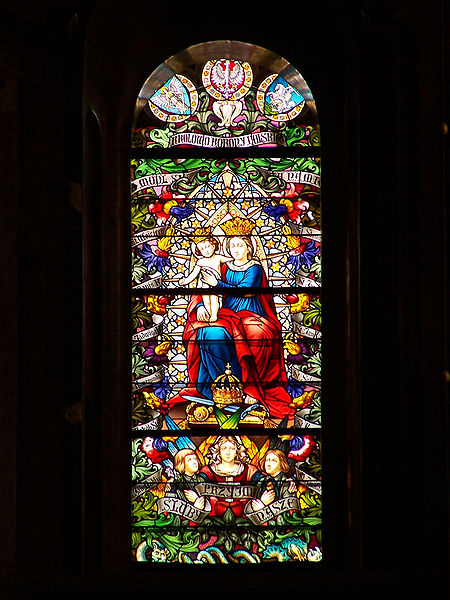 File:Lviv - Roman-Catholic Catedral of St. Mary - Stained glass.jpg