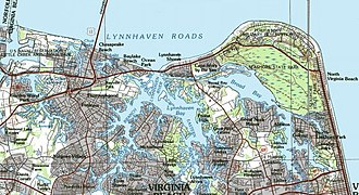 Lynnhaven River - Map of the Lynnhaven River area