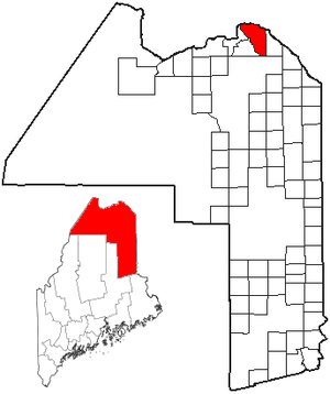 Madawaska, Maine - Image: ME Map location of Madawaska