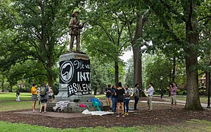 Silent Sam - Protests in August 2017