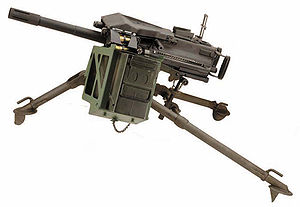 Mk 19 grenade launcher - A Mk 19 40 mm grenade launcher mounted on an M3 tripod
