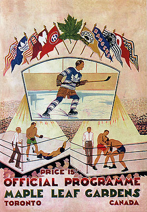 Toronto Maple Leafs opening night program at M...