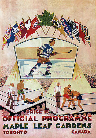 Maple Leaf Gardens - Toronto Maple Leafs opening night program at MLG, November 12, 1931.