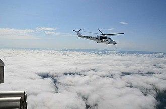 North Kivu - A UN Mi-24 flight reconnaissance in North Kivu.