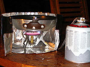Mountain Safety Research - MSR WindPro portable stove with heat reflector and wind shield