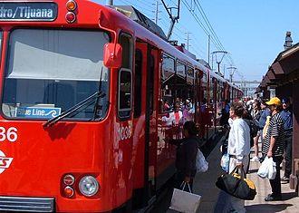 Blue Line (San Diego Trolley) - Image: MTS Blue OTTC