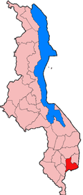 Location of Mulanje District in Malawi