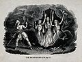 Macbeth meets the three witches; scene from Shakespeare's 'M Wellcome V0025894.jpg