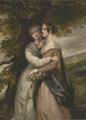Madame Delessert (Valentine de Laborde (1806-1894)) et sa fille Cécile (comtesse de Nadaillac (1825-1887)) debout.png