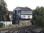Maidstone West railway station, signal box, EG01, August 2013.JPG