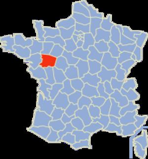 Communes of the Maine-et-Loire department - Image: Maine et Loire Position