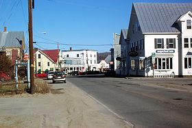 Maine State Routes 16 and 27 in downtown Kingfield.JPG