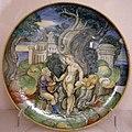 Maiolica di urbino, nicola da urbino, apollo e marsia, 1530-34.jpg