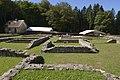 Maison dite PC1, la plus vaste du site de Bibracte, 3600 m². Ier s. av. notre ère. Elle possède des éléments caractéristiques de l'architecture romaine. Nièvre et Saône-et-Loire, Bourgogne, France.jpg