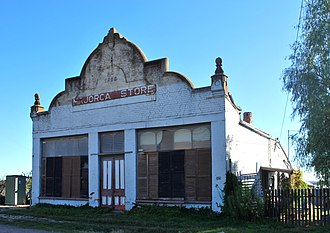 Majorca, Victoria - The old Majorca store, established in 1866 and later abandoned.  Destroyed by fire in 2015.