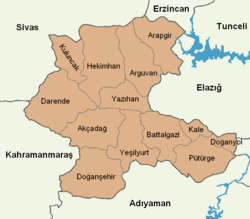 Malatya location districts.png