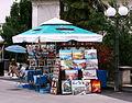 Malinska - Stand mit Bildern die zum Verkauf angeboten sind.JPG