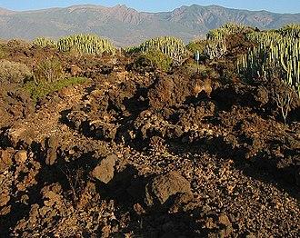 Malpaís (landform) - Malpaís de Güímar on Tenerife, Canary Islands
