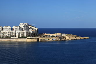Tigné Point - View of Tigné Point from Valletta.
