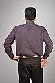 Man Standing - Back View - Kolkata 2011-01-25 0237.JPG
