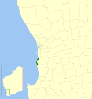 City of Mandurah - Location in Western Australia