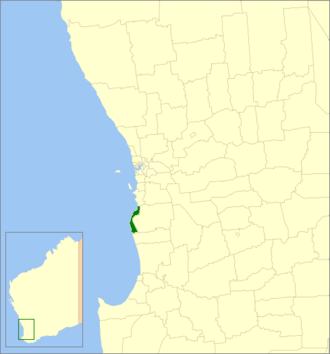 City of Mandurah - Location in Western Australia