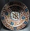 Manises, bacile con arme della famiglia cornell, 1450-1500 ca..JPG