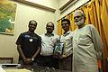 Manoranjan Behera, Vishnu Vardhan, Subhashish Panigrahi with Dipak Kanungo.jpg