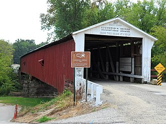 Mansfield, Indiana - Mansfield Covered Bridge