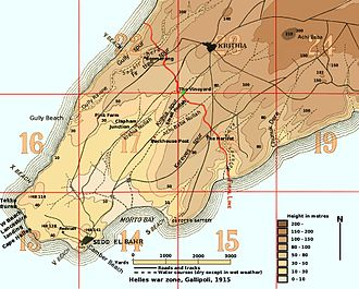 42nd (East Lancashire) Infantry Division - Area of operations of 42nd Division on Gallipoli