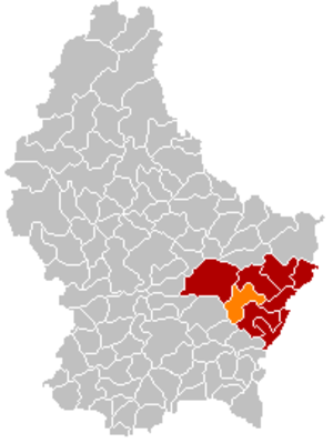 Betzdorf, Luxembourg - Image: Map Betzdorf