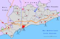 Mapa Provincia Tarragona Localidades.Anexo Municipios De La Provincia De Tarragona Wikipedia