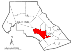 Map of Bald Eagle Township, Clinton County, Pennsylvania Highlighted.png