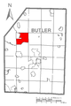 Map of Brady Township, Butler County, Pennsylvania Highlighted.png