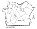 Map of Dawson, Fayette County, Pennsylvania Highlighted.png