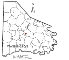 Map of East Washington, Washington County, Pennsylvania Highlighted.png