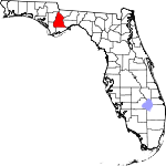 A state map highlighting Liberty County in the northwestern part of the state. It is large in size.