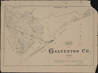 Galveston County, Texas - Map of Galveston County in 1879