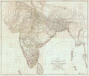 James Rennell - Map of Hindoostan, 1788