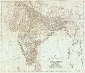 Map of British India by James Rennell, 1788.